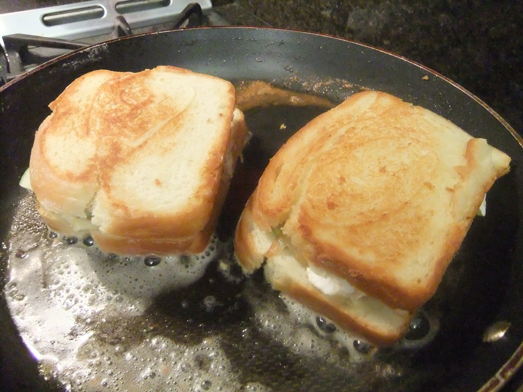 The Bread Was Browning But The Cheese Wasn't Quite Melting Yet… So I Turned  The Heat Down And Let 'em Melt